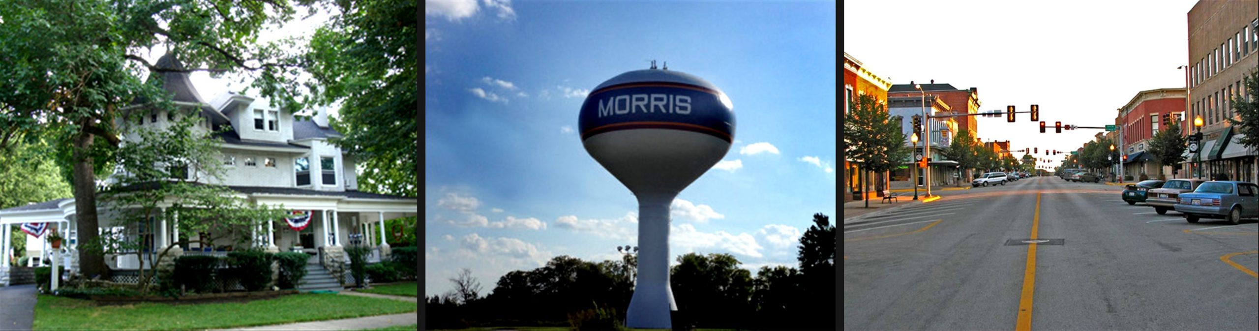 Morris Illinois Attractions: Historic Home, Water Tower, Historic Downtown